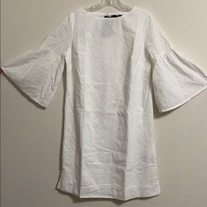 Eyelet white dress 35 inches long